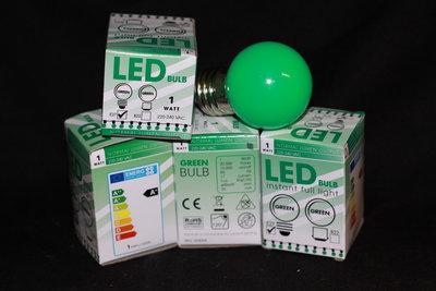LEDlamp met groene kunststofkap