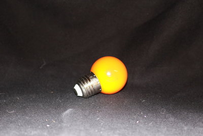 LEDlamp met Gele kunststofkap