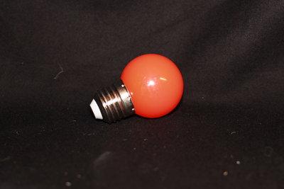 LEDlamp met Oranje kunststofkap