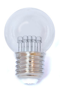 led lamp warm wit met transparante kap
