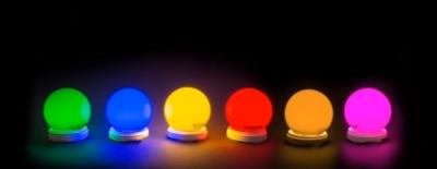 assortiment kleur lampen