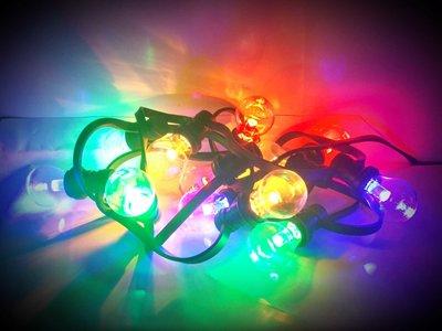 Gekleurde Led Lampen : Prikkabel met transparante gekleurde ledlampen horecashop