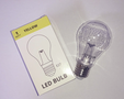 Grote LEDlamp, geel 1w